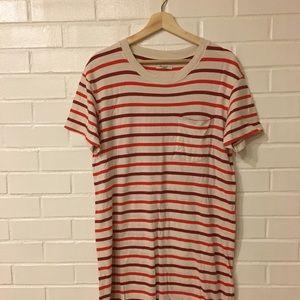 Madewell Stripped T-shirt Dress Size M